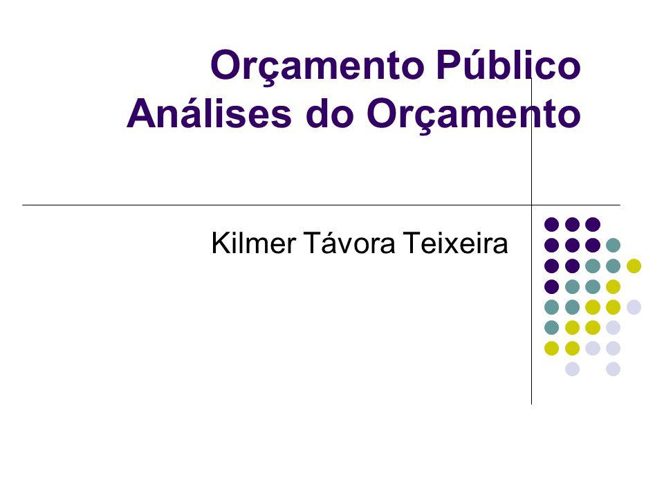 Orçamento Público Análises do Orçamento Kilmer Távora Teixeira