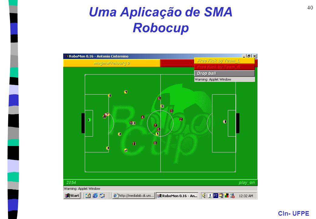 CIn- UFPE 40 Uma Aplicação de SMA Robocup