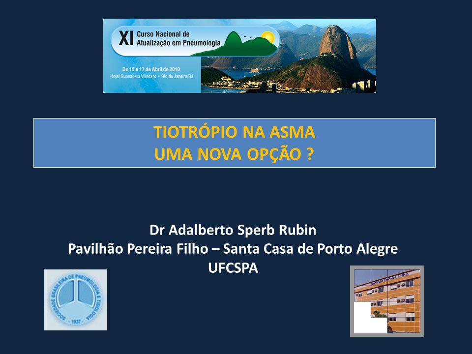 TIOTRÓPIO NA ASMA UMA NOVA OPÇÃO ? Dr Adalberto Sperb Rubin Pavilhão Pereira Filho – Santa Casa de Porto Alegre UFCSPA