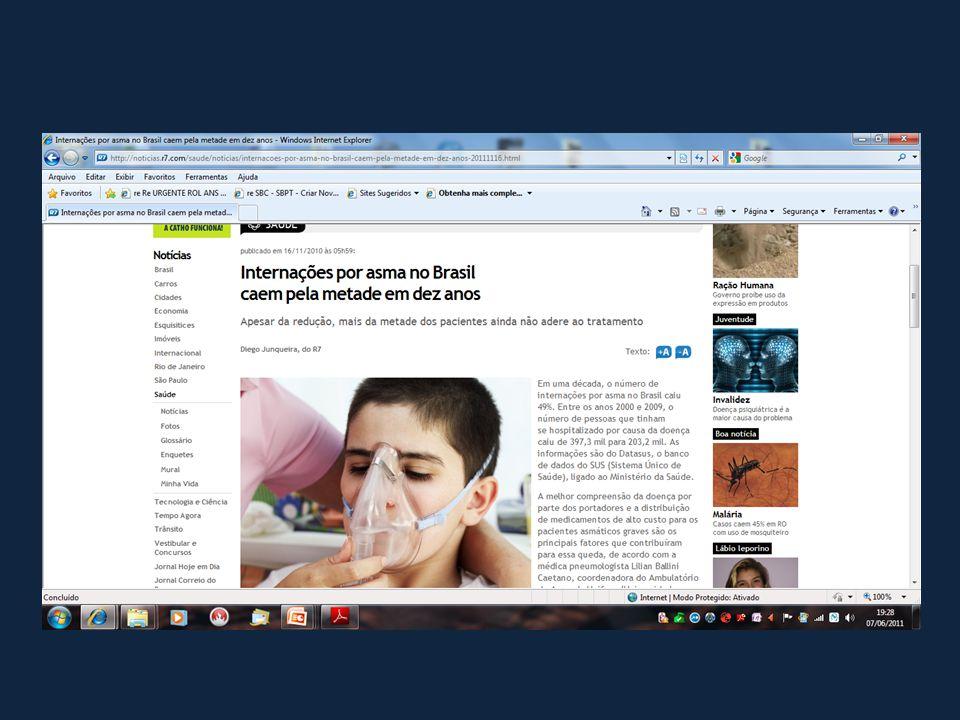 Acompanhamento de Asmáticos Tratatados Conforme as Diretrizes em Atendimento Primário – USA/CAN Chapman et al.