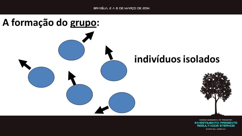 A formação do grupo: indivíduos isolados