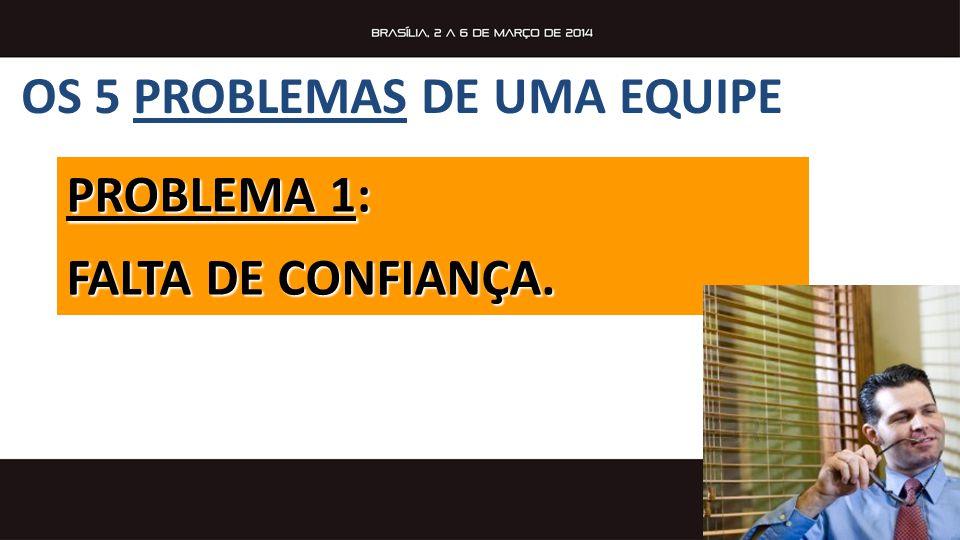 OS 5 PROBLEMAS DE UMA EQUIPE PROBLEMA 1: FALTA DE CONFIANÇA.