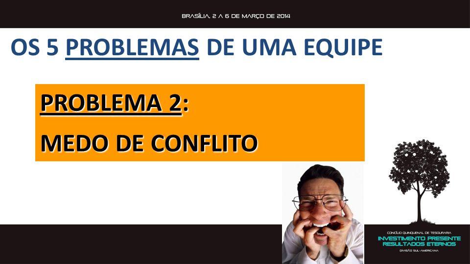 PROBLEMA 2: MEDO DE CONFLITO OS 5 PROBLEMAS DE UMA EQUIPE