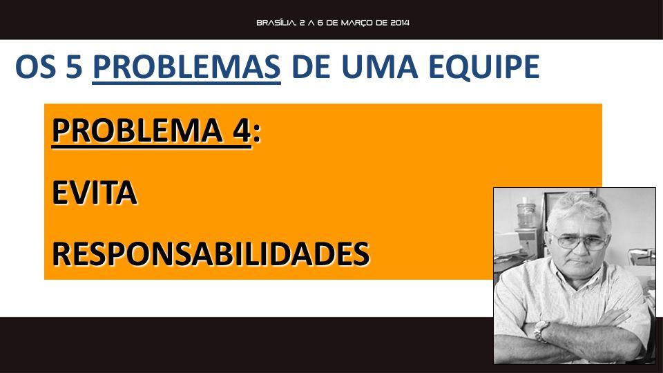 PROBLEMA 4: EVITARESPONSABILIDADES OS 5 PROBLEMAS DE UMA EQUIPE