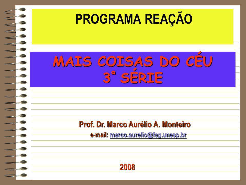 Prof. Dr. Marco Aurélio A. Monteiro e-mail: marco.aurelio@feg.unesp.br e-mail: marco.aurelio@feg.unesp.brmarco.aurelio@feg.unesp.br PROGRAMA REAÇÃO MA