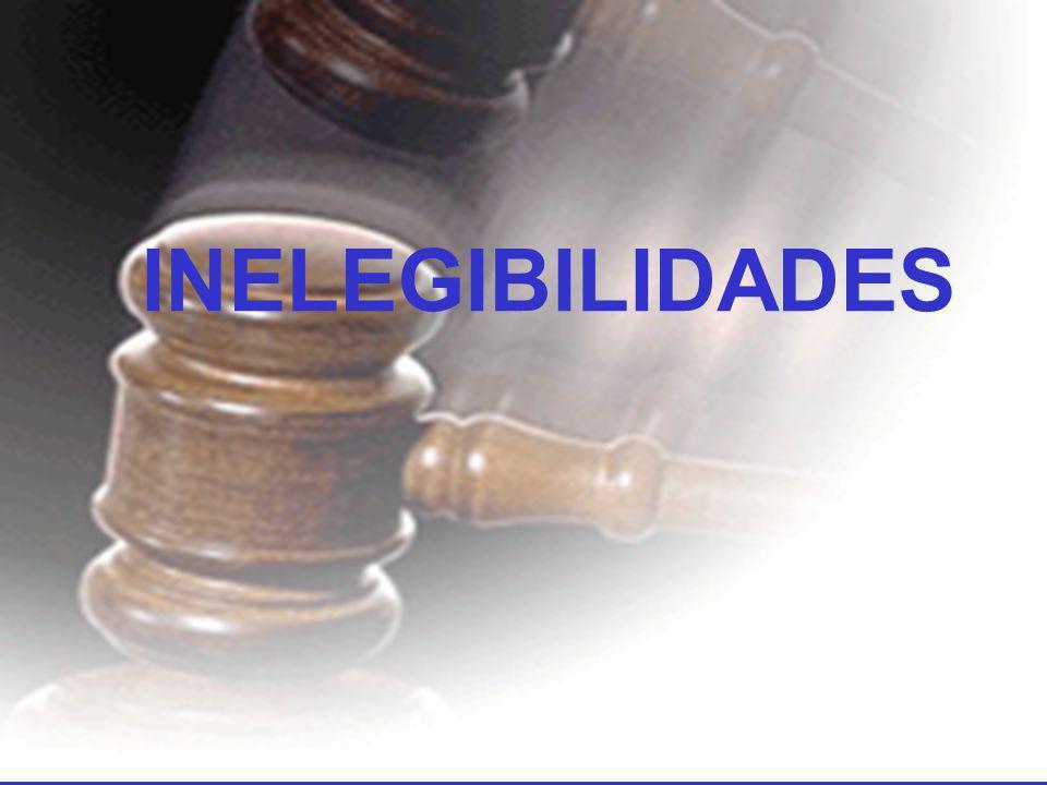 INELEGIBILIDADES