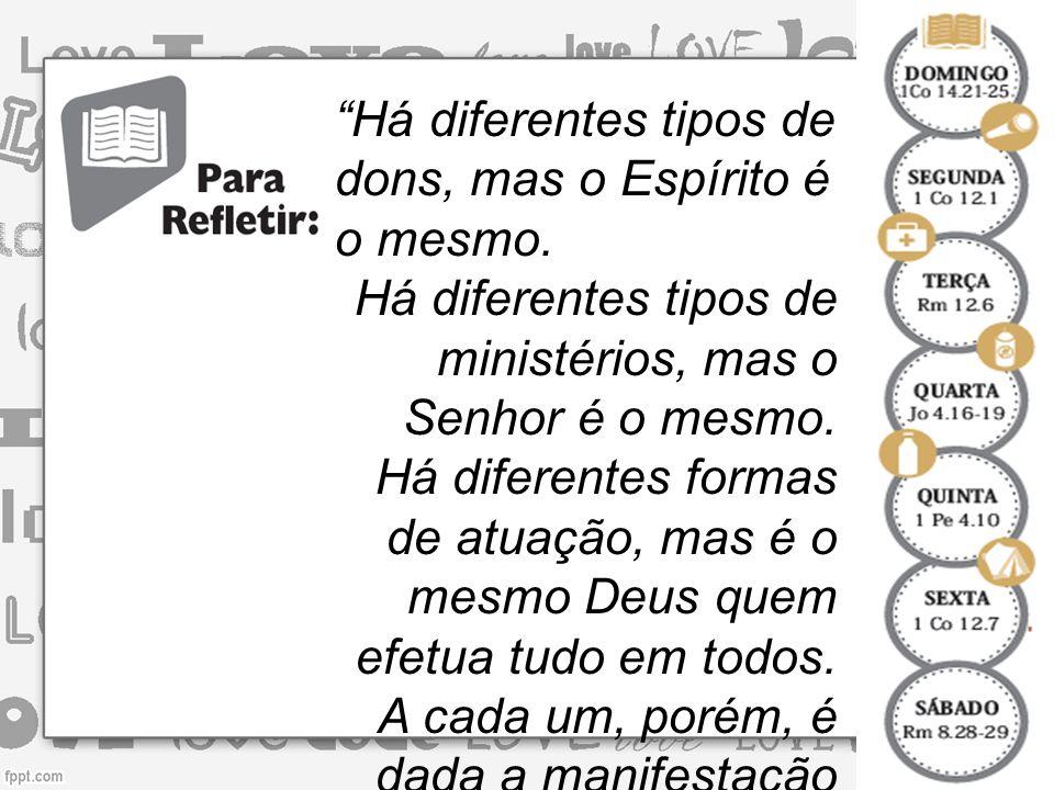 O dom de discernir os espíritos deve ser desenvolvido no seio da IGREJA.