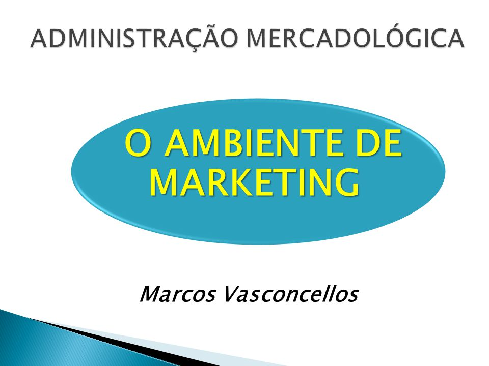 O AMBIENTE DE MARKETING Marcos Vasconcellos