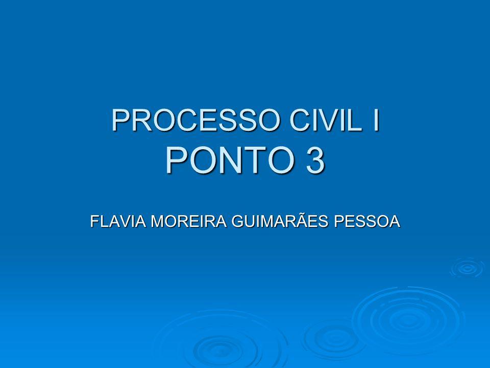 PROCESSO CIVIL I PONTO 3 FLAVIA MOREIRA GUIMARÃES PESSOA
