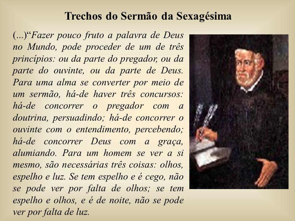 (...) Fazer pouco fruto a palavra de Deus no Mundo, pode proceder de um de três princípios: ou da parte do pregador, ou da parte do ouvinte, ou da parte de Deus.