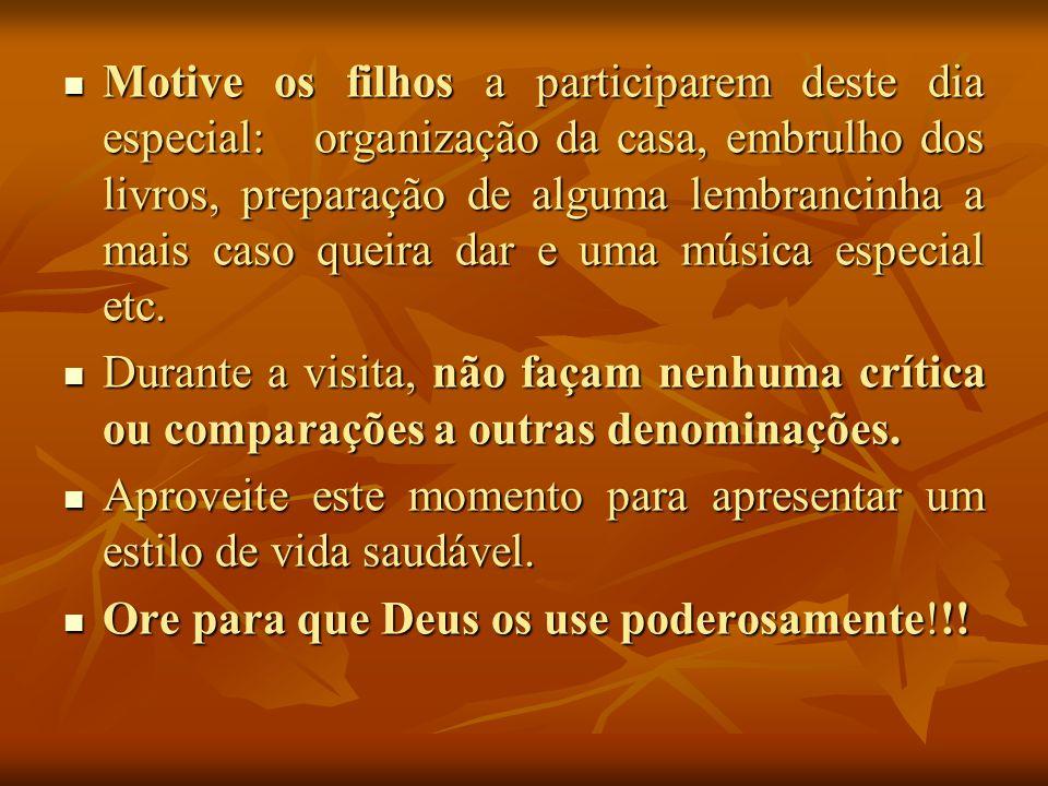 O que oferecer: Dia 30 de maio será um dia muito importante nos lares adventistas.