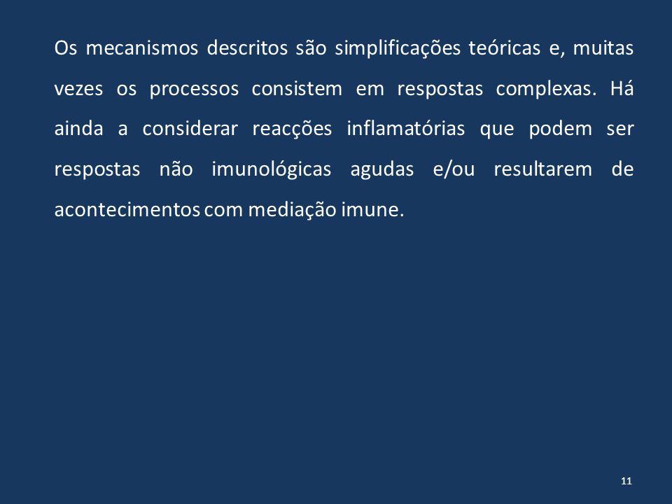 11 Os mecanismos descritos são simplificações teóricas e, muitas vezes os processos consistem em respostas complexas.