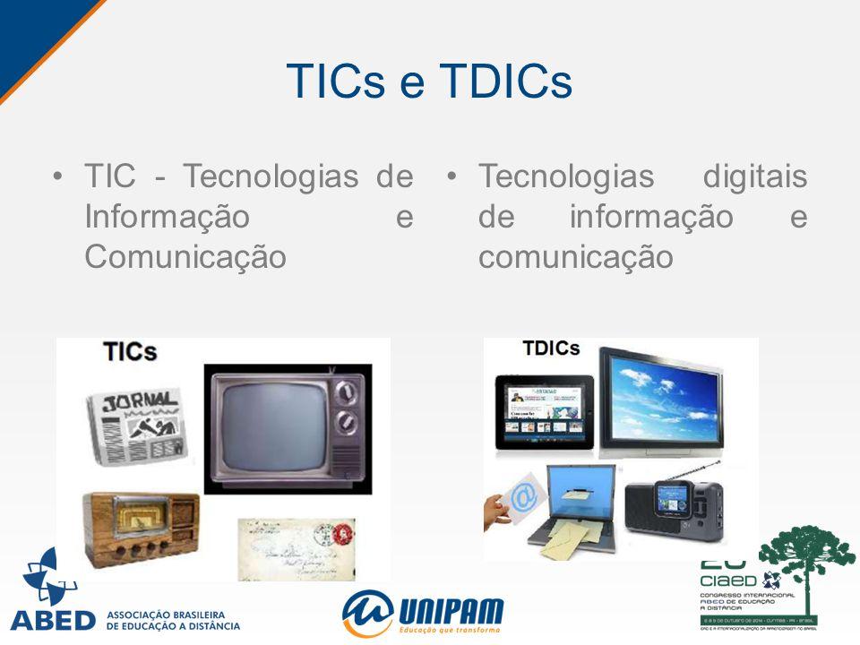 TICs e TDICs TIC - Tecnologias de Informação e Comunicação Tecnologias digitais de informação e comunicação