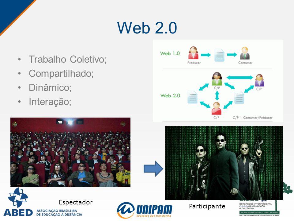 Web 2.0 Trabalho Coletivo; Compartilhado; Dinâmico; Interação; Espectador Participante
