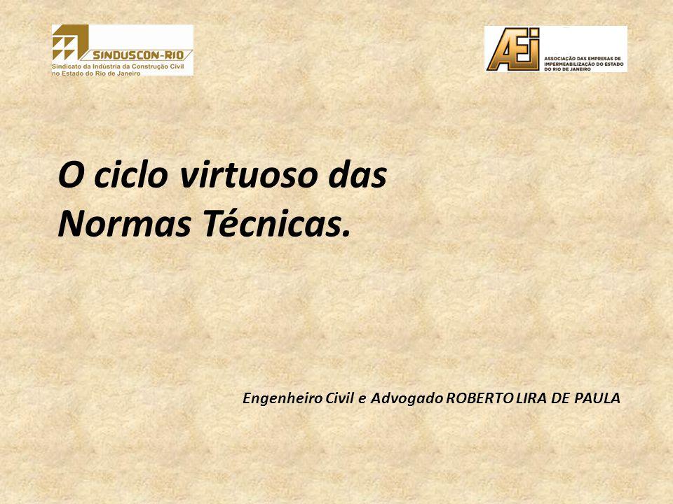 O ciclo virtuoso das Normas Técnicas. Engenheiro Civil e Advogado ROBERTO LIRA DE PAULA