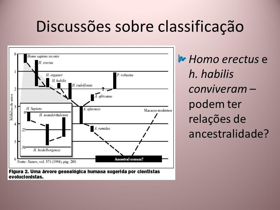Discussões sobre classificação Homo erectus e h. habilis conviveram – podem ter relações de ancestralidade?