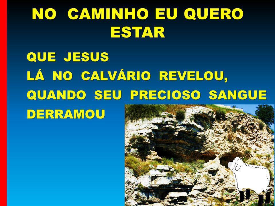 QUE JESUS QUE JESUS LÁ NO CALVÁRIO REVELOU, QUANDO SEU PRECIOSO SANGUE LÁ NO CALVÁRIO REVELOU, QUANDO SEU PRECIOSO SANGUE DERRAMOU DERRAMOU NO CAMINHO