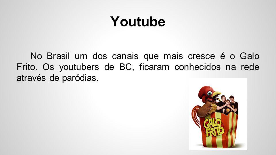 Youtube No Brasil um dos canais que mais cresce é o Galo Frito. Os youtubers de BC, ficaram conhecidos na rede através de paródias.