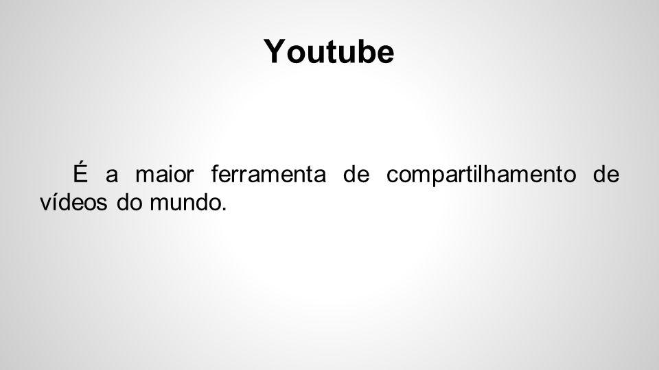 É a maior ferramenta de compartilhamento de vídeos do mundo.