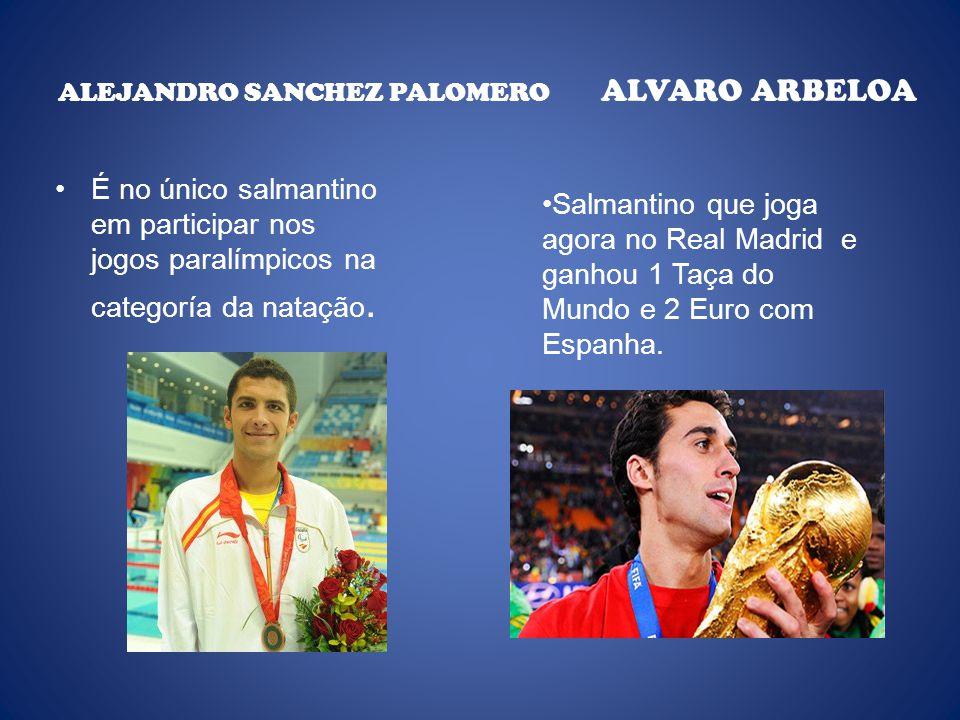 ALEJANDRO SANCHEZ PALOMERO ALVARO ARBELOA É no único salmantino em participar nos jogos paralímpicos na categoría da natação.