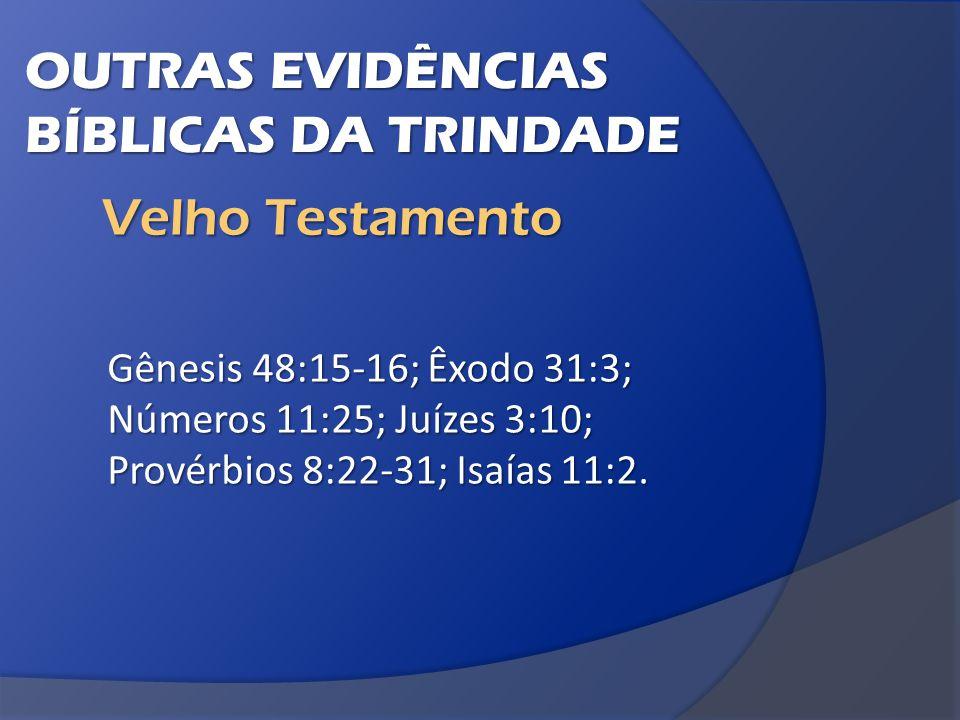 Gênesis 48:15-16; Êxodo 31:3; Números 11:25; Juízes 3:10; Provérbios 8:22-31; Isaías 11:2.
