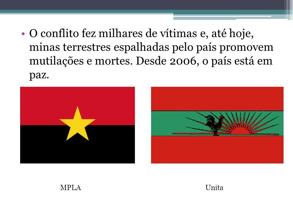 O conflito fez milhares de vítimas e, até hoje, minas terrestres espalhadas pelo país promovem mutilações e mortes. Desde 2006, o país está em paz. MP