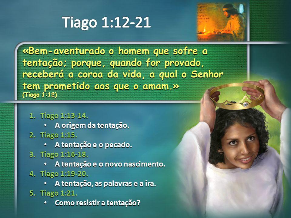 Em primeiro lugar, Tiago nos mostra que Deus NÃO É a origem da tentação.