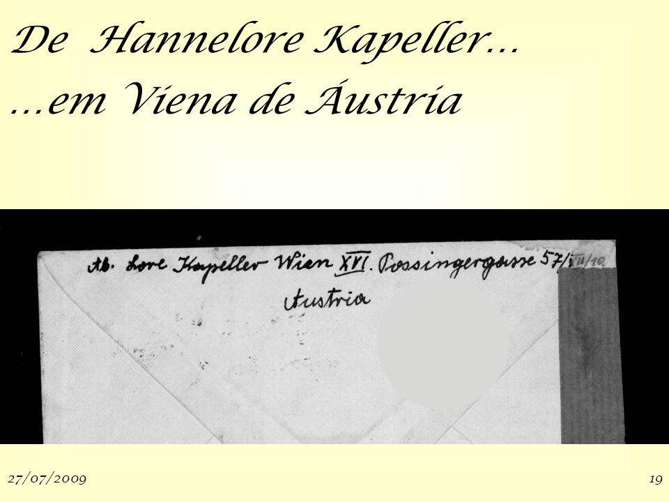 27/07/200919 De Hannelore Kapeller… …em Viena de Áustria