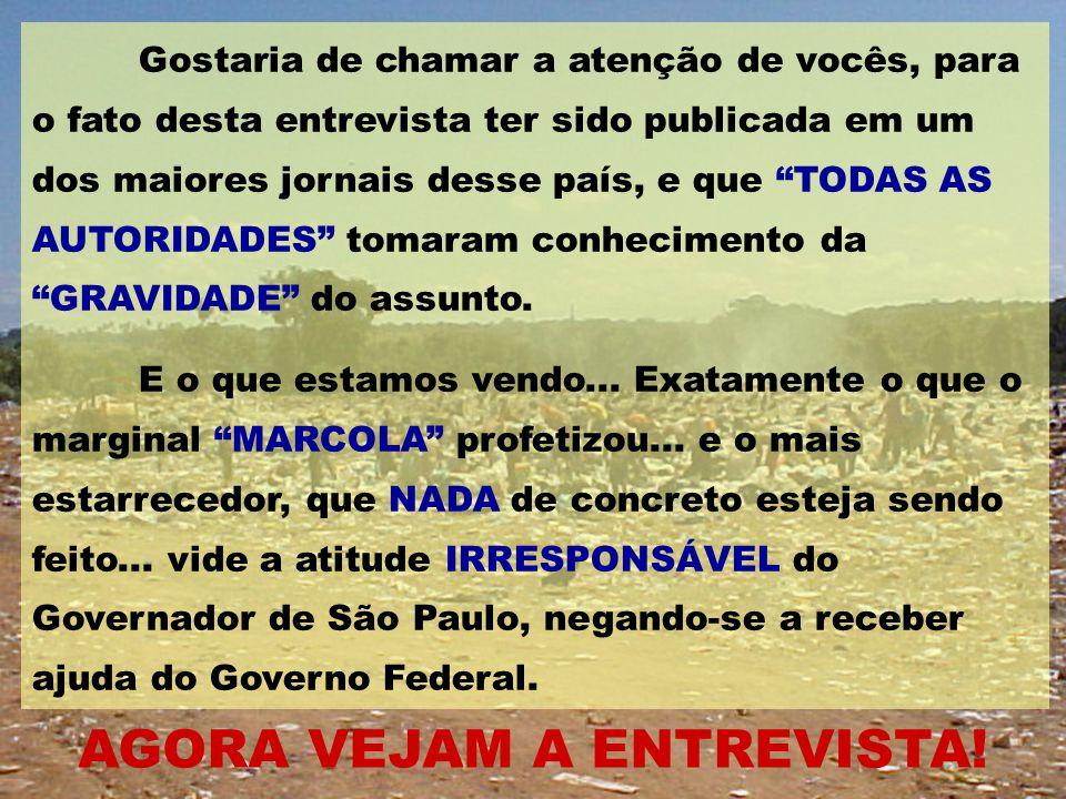 """Uma """"LIÇÃO"""" para nós brasileiros O que vocês vão ver, é uma transcrição de uma entrevista que o marginal """"MARCOLA'', concedeu a um jornalista de """"O GL"""