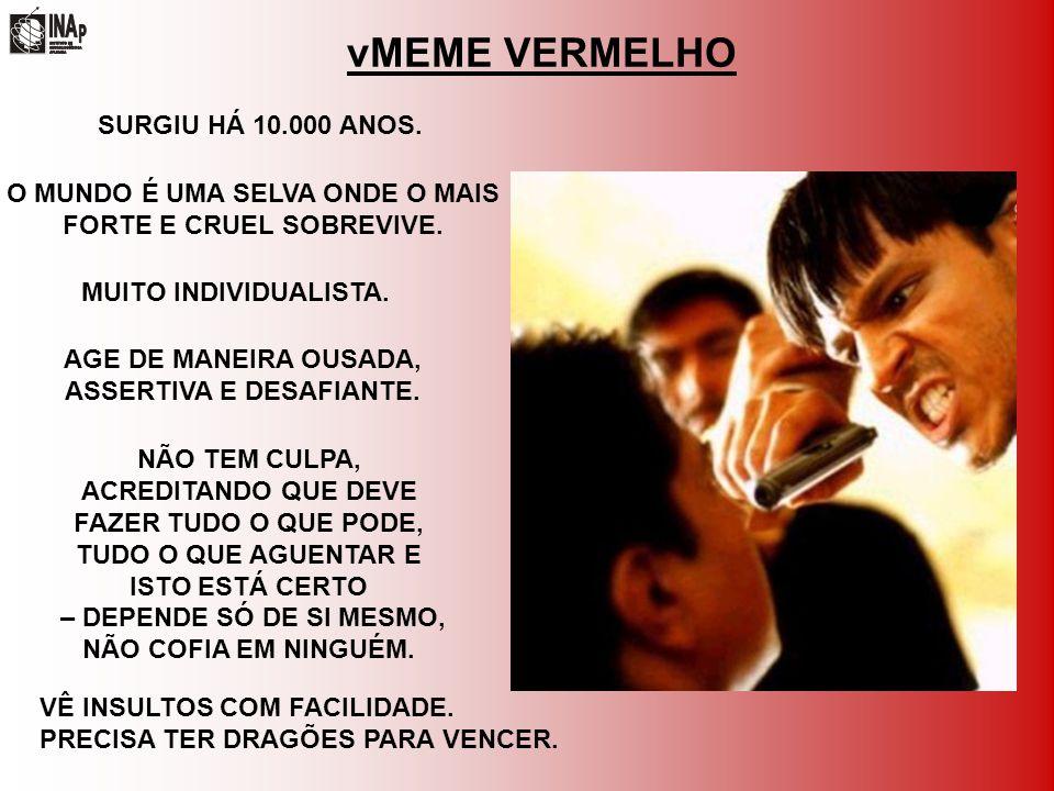vMEME VERMELHO AGE DE MANEIRA OUSADA, ASSERTIVA E DESAFIANTE.