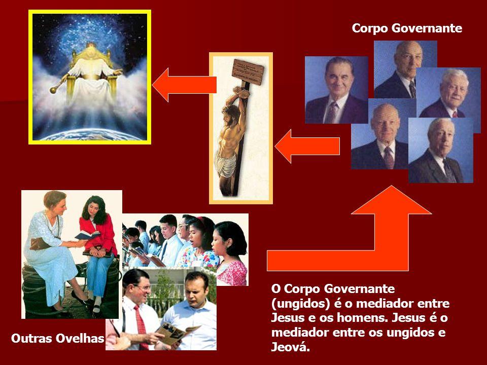 Corpo Governante O Corpo Governante (ungidos) é o mediador entre Jesus e os homens. Jesus é o mediador entre os ungidos e Jeová. Outras Ovelhas