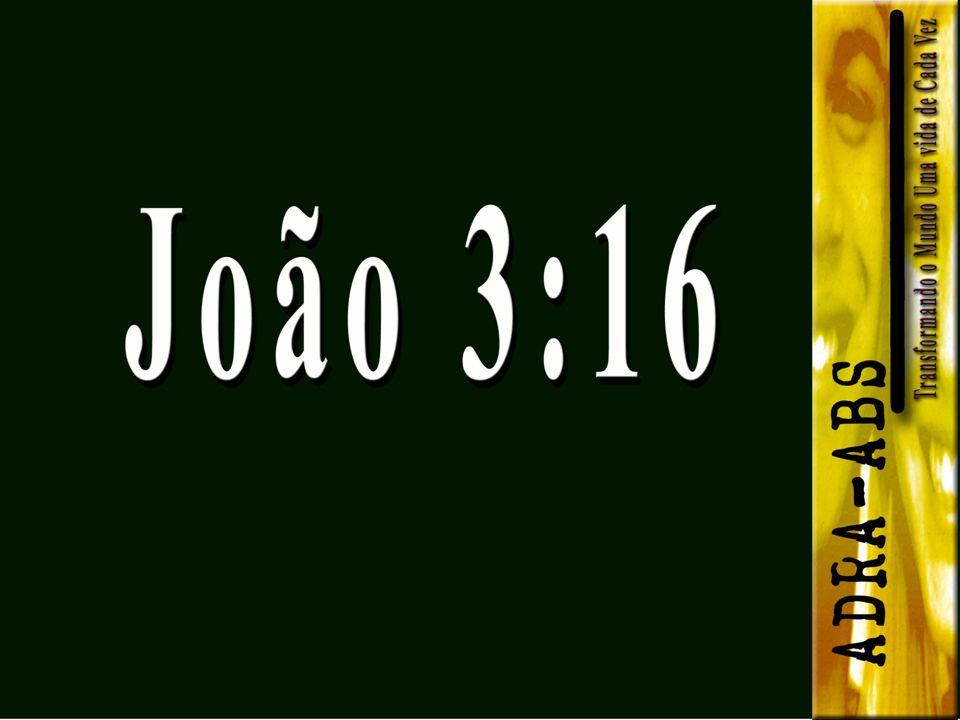E enquanto lágrimas de felicidade deixavam seus olhos e rolavam face à baixo, ele pensou consigo mesmo: - João 3:16...