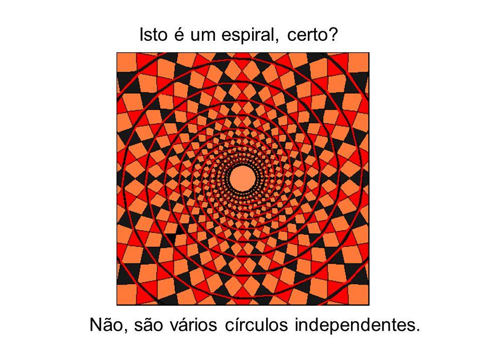 Isto é um espiral, certo? Não, são vários círculos independentes.