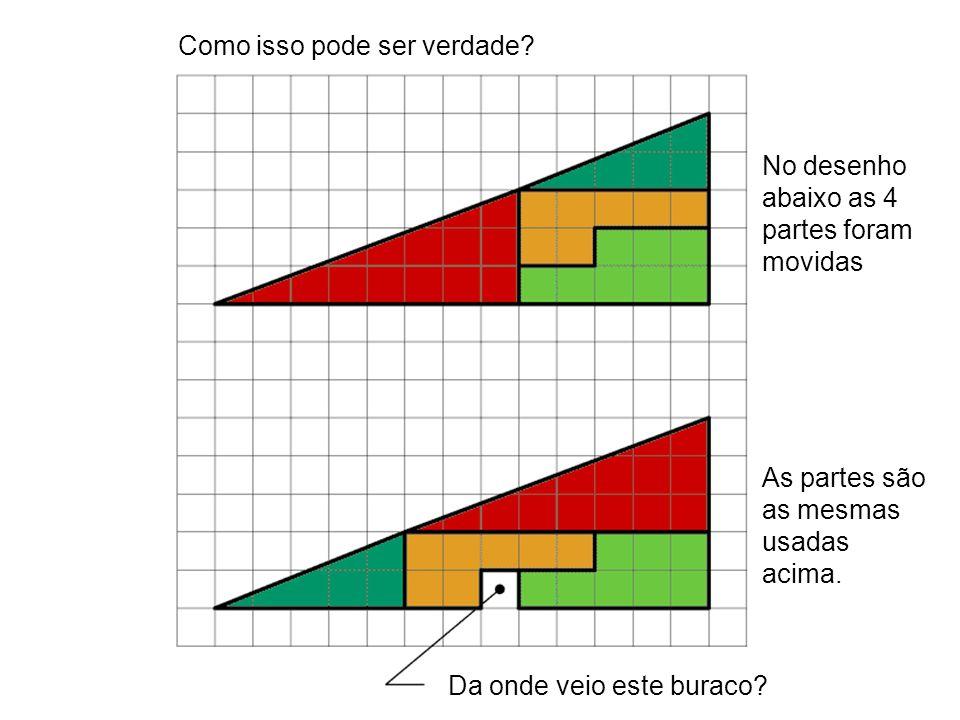 Como isso pode ser verdade? No desenho abaixo as 4 partes foram movidas As partes são as mesmas usadas acima. Da onde veio este buraco?