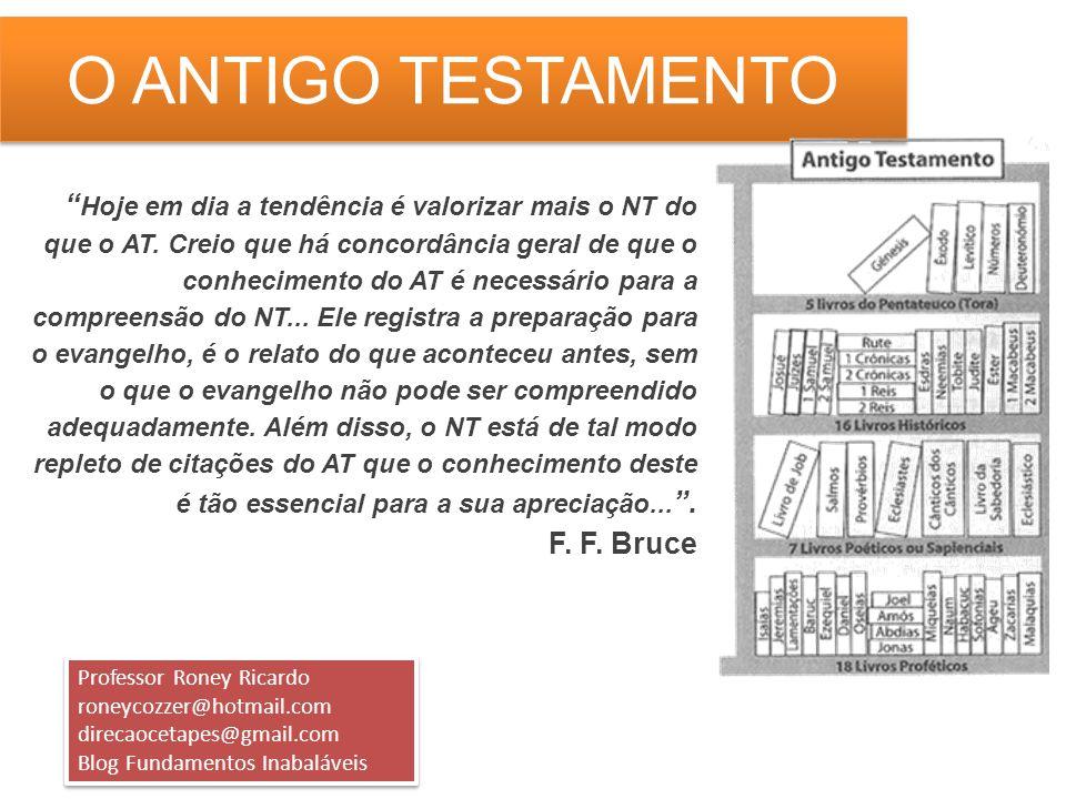 O ANTIGO TESTAMENTO BIBLIOGRAFIA INDICADA