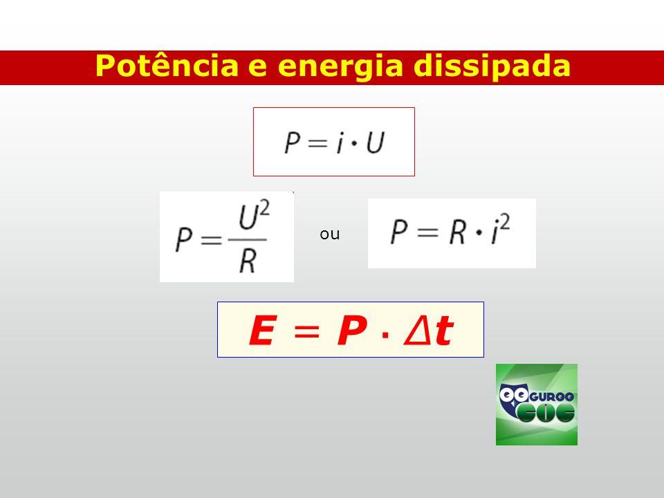 Potência e energia dissipada ou E = P ∙ ∆t