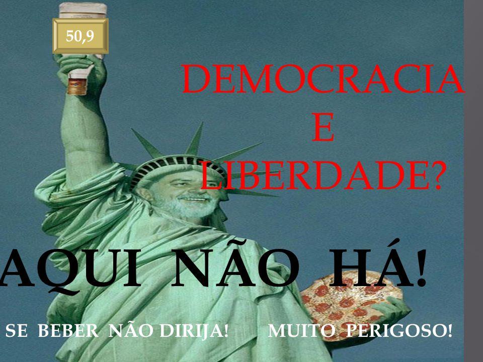 50,9 DEMOCRACIA E LIBERDADE? AQUI NÃO HÁ! SE BEBER NÃO DIRIJA! MUITO PERIGOSO!