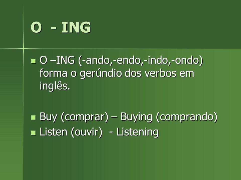 BE + vING Usamos o verbo auxiliar Be conjugado no presente (am, are, is) acompanhado de um verbo no gerúndio (ING) para dizer que algo está aconetcendo no momeno.