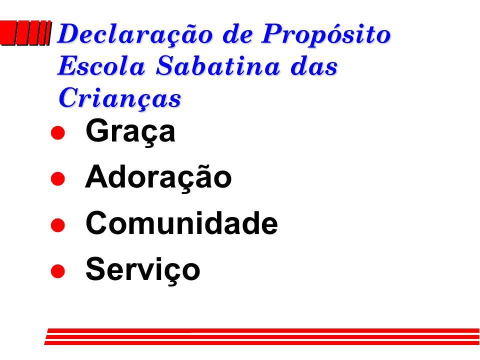 Declaração de Propósito Escola Sabatina das Crianças l Graça l Adoração l Comunidade l Serviço