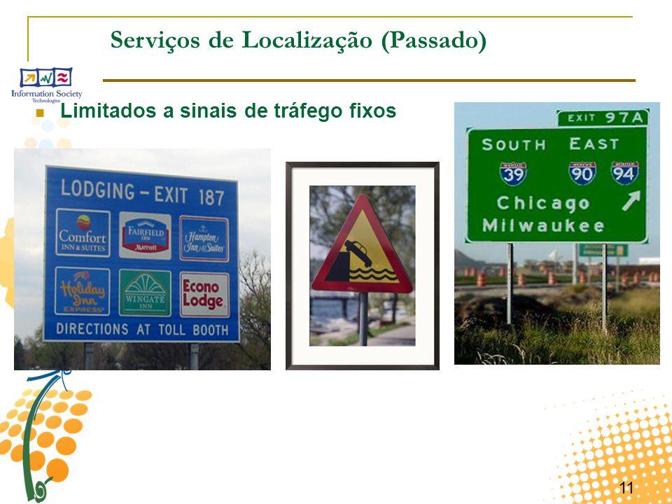 11 Serviços de Localização (Passado) Limitados a sinais de tráfego fixos