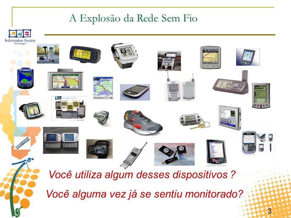 3 A Explosão da Rede Sem Fio Você utiliza algum desses dispositivos ? Você alguma vez já se sentiu monitorado?