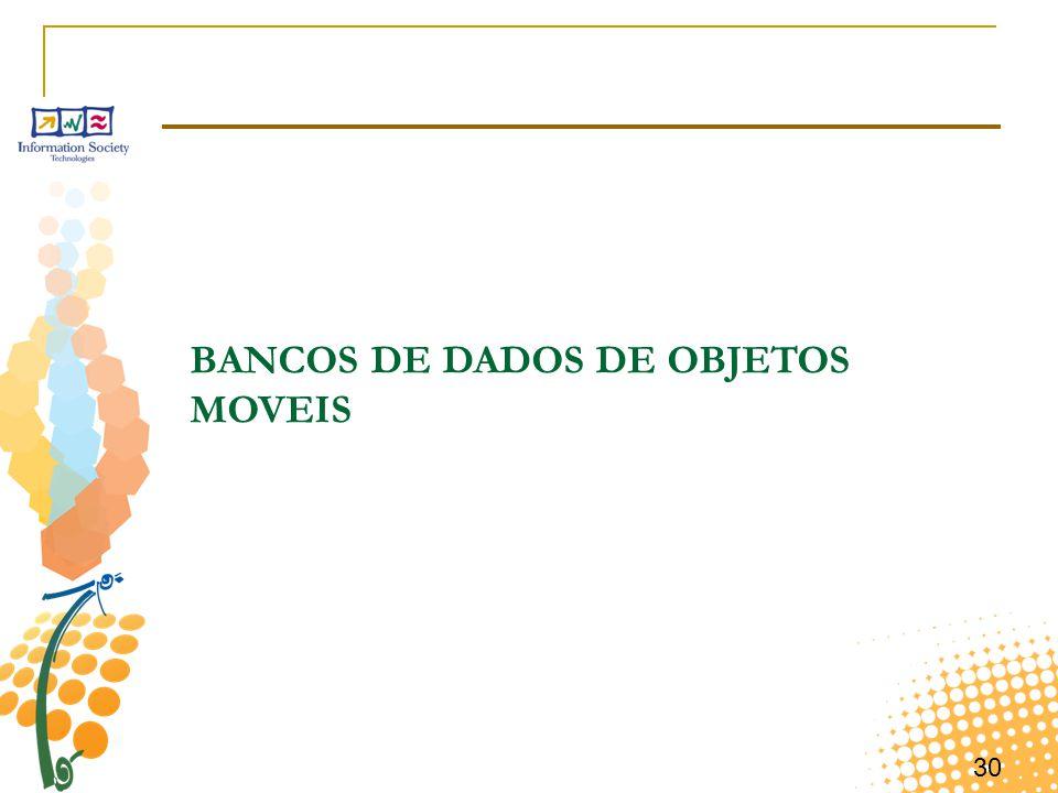 30 BANCOS DE DADOS DE OBJETOS MOVEIS