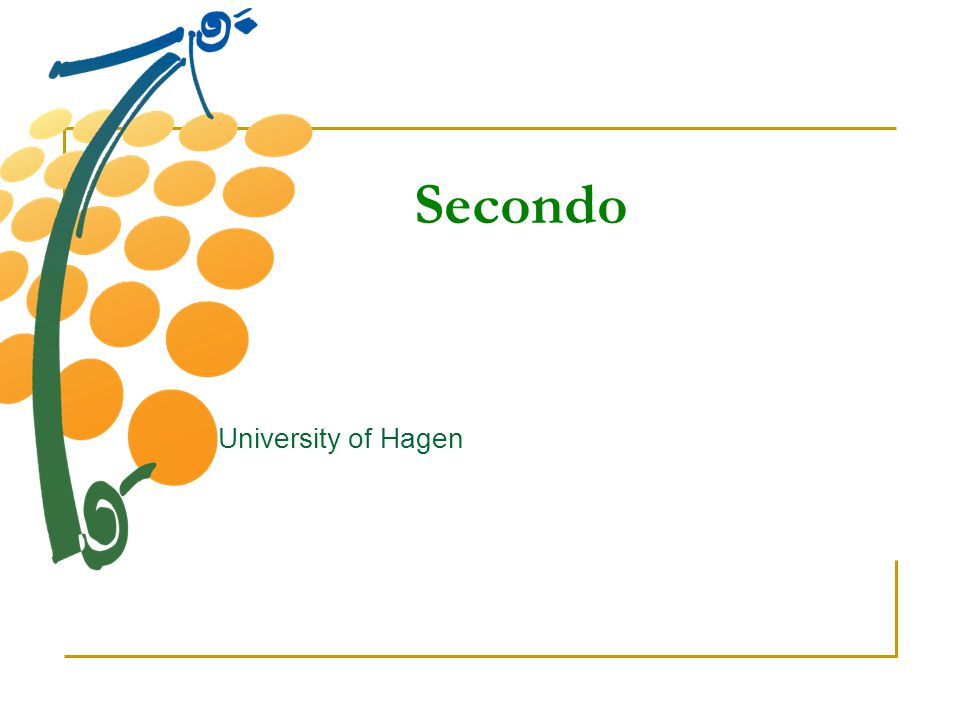 Secondo University of Hagen