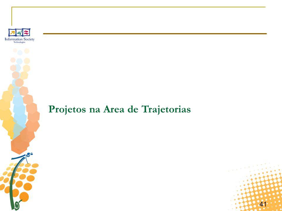 41 Projetos na Area de Trajetorias