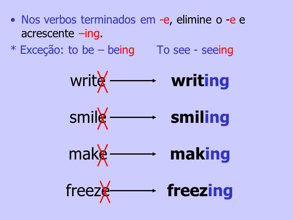 Spelling Progressive Verbs