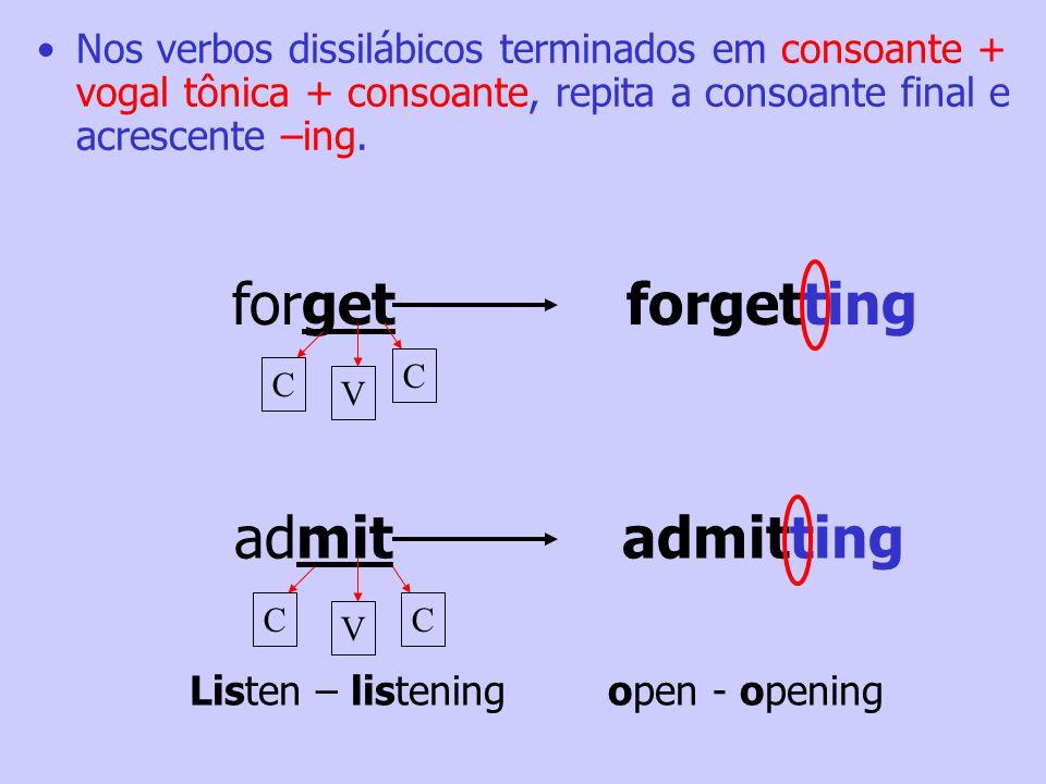 Be Careful! Não dobre as letras x, e w. rowrowing fixfixing C V CC V C