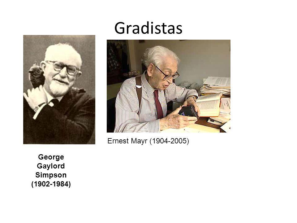 Gradistas George Gaylord Simpson (1902-1984) Ernest Mayr (1904-2005)