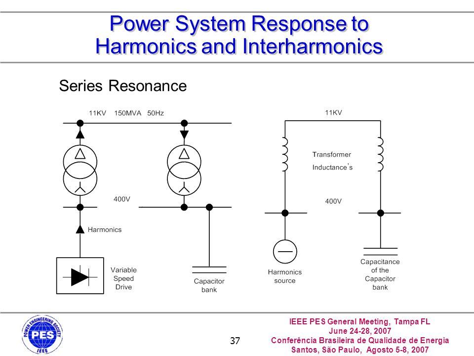 IEEE PES General Meeting, Tampa FL June 24-28, 2007 Conferência Brasileira de Qualidade de Energia Santos, São Paulo, Agosto 5-8, 2007 37 Power System