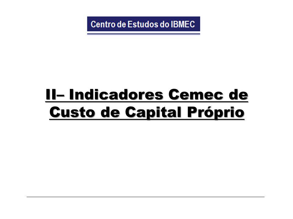II– Indicadores Cemec de Custo de Capital Próprio