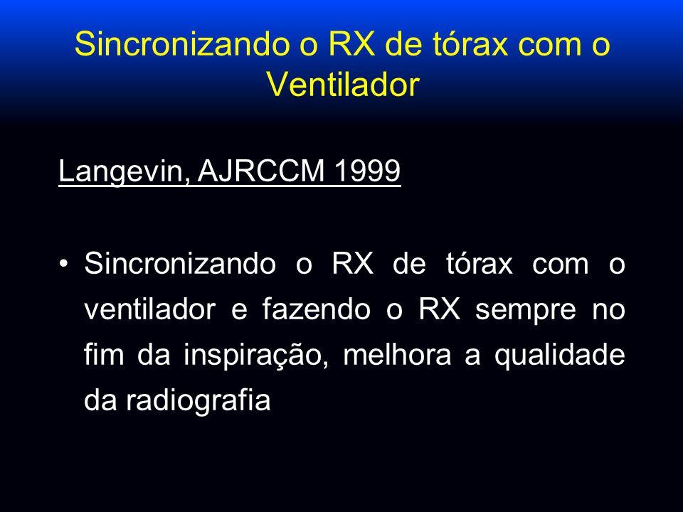 Sincronizando o RX de tórax com o Ventilador Langevin, AJRCCM 1999 Sincronizando o RX de tórax com o ventilador e fazendo o RX sempre no fim da inspir